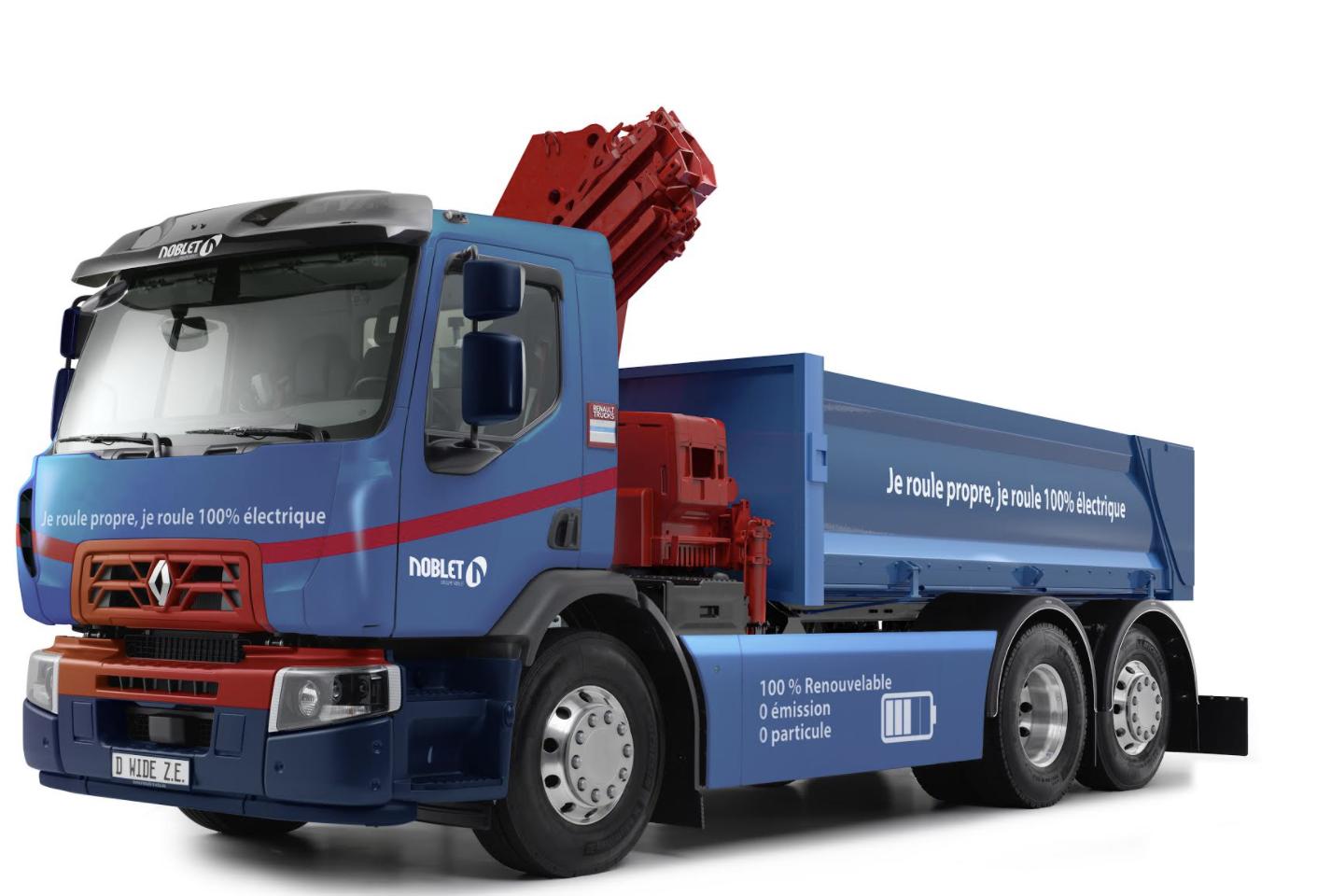 Чотири акумулятори й керована задня вісь: Renault Trucks відправить на будівництво свою першу електровантажівку