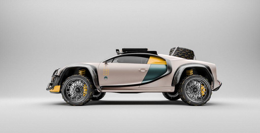 Гіперкар Bugatti Chiron перетворили на повнопривідний позашляховик