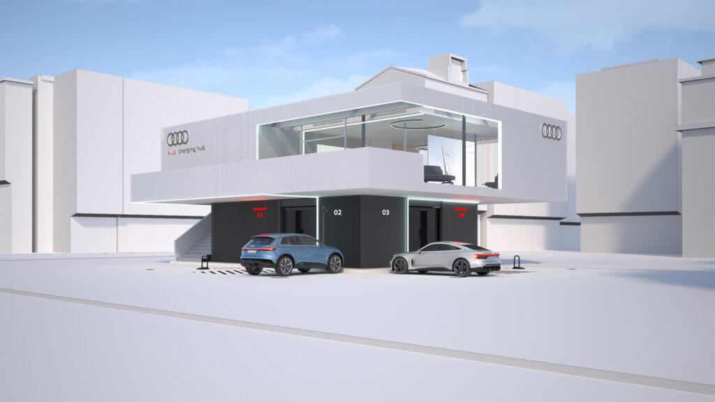 В Audi придумали, куди дівати відпрацьовані батареї електромобілів: будуватимуть швидкісні електрозаправки