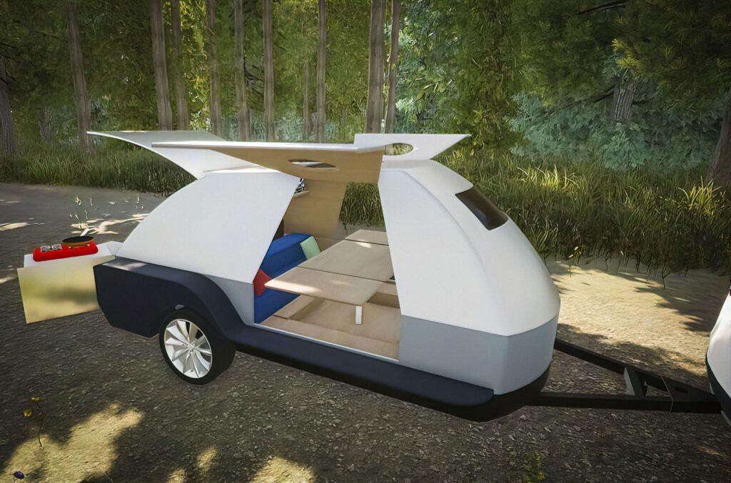 В США представили спеціальний будинок на колесах із вбудованим павербанком для електромобілів